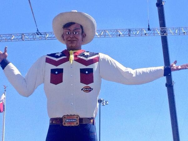 Up close and personal with the new Big Tex.