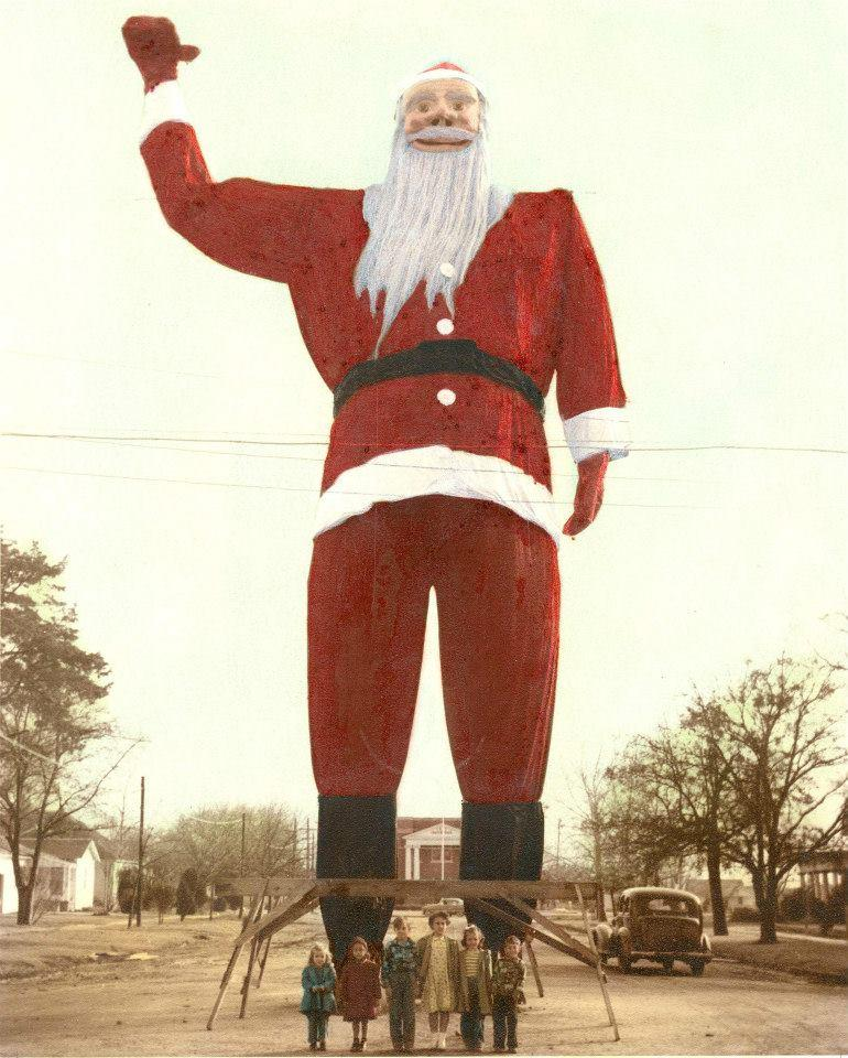 Before Big Tex was Big Tex, he was Santa Claus in Kerens in 1949.