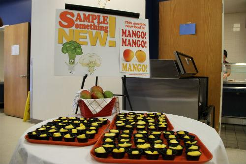 There was a surprise in the lunch line on Friday in Irving: mango.