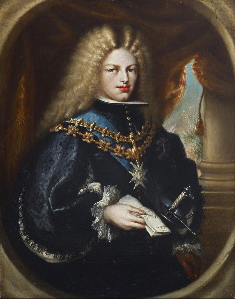 "Miguel Jacinto Meléndez, ""Portrait of Philip V, King of Spain"" (c. 1701-03)"