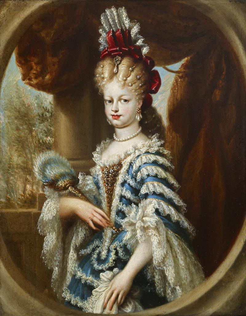 """Miguel Jacinto Meléndez, """"Portrait of María Luisa Gabriela of Savoy"""" (c. 1701-03)"""