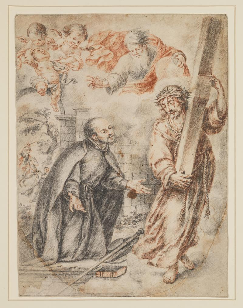 "Juan de Valdés Leal, ""Apparition of Christ to Saint Ignatius on his Way to Rome"" (c. 1662)"