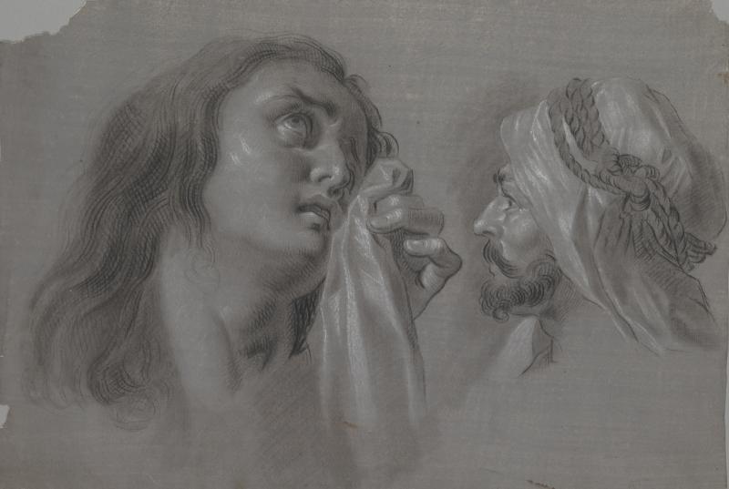 "Zacarías González Velázquez, ""Mary Magdalene and Head of a Moor"" (1793)"