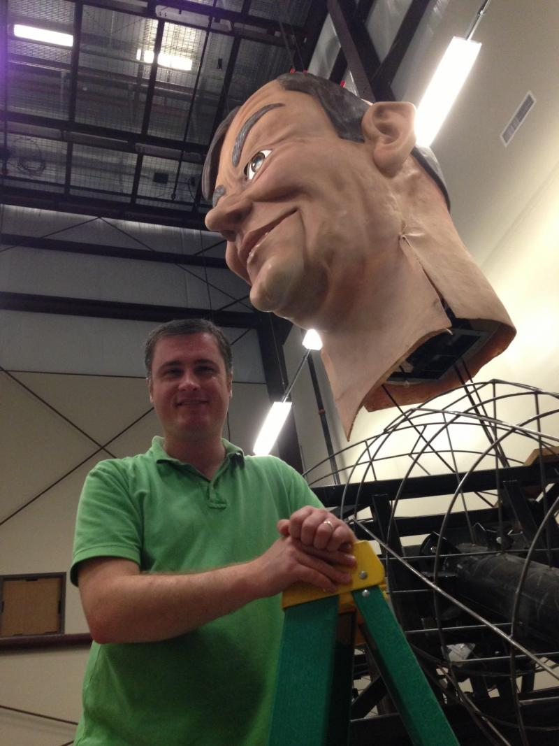 Eric Aasen, KERA's new digital news editor, had exclusive, behind-the-scenes access to the rebuiling of Big Tex.