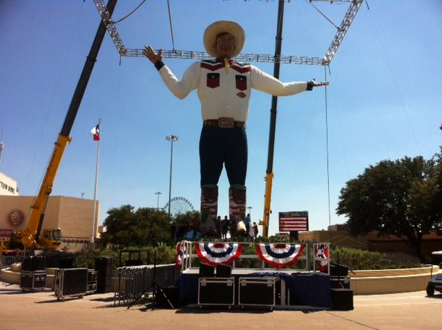 Big Tex has a secret code name -- and a larger rear.