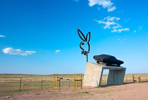 The Playboy roadside ad in Marfa has also caused a stir.