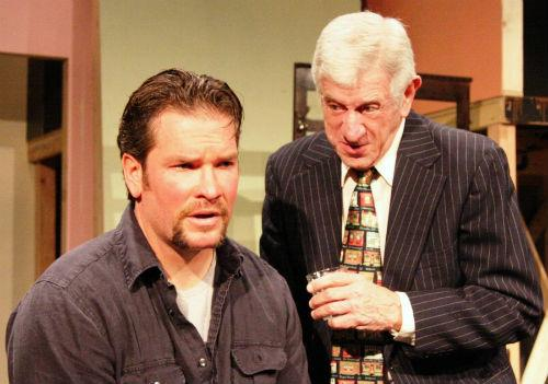 Jerry Russell (right) as Lockhart in The Seafarer. He was the founder and producing director of Stage West.