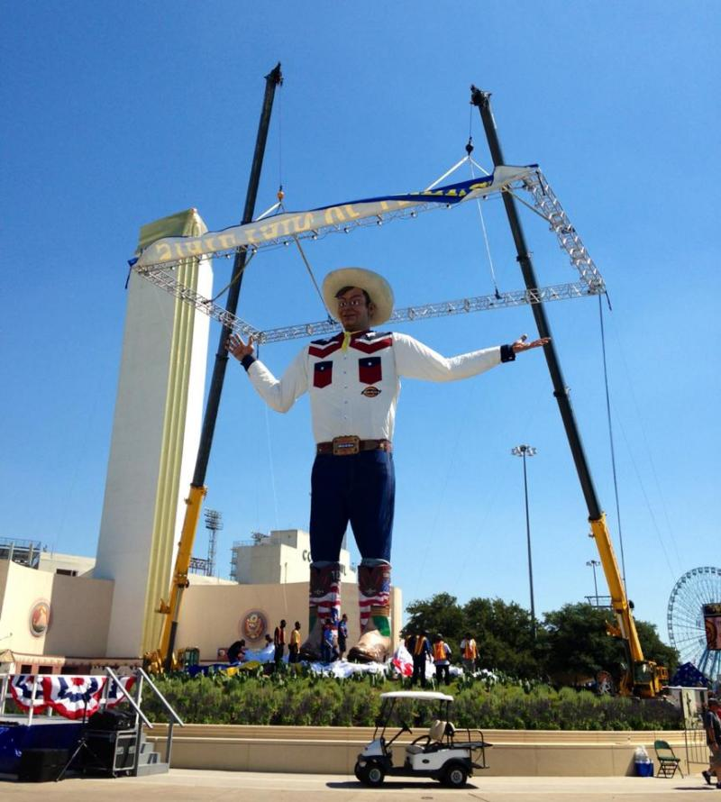 Another angle of the new Big Tex.