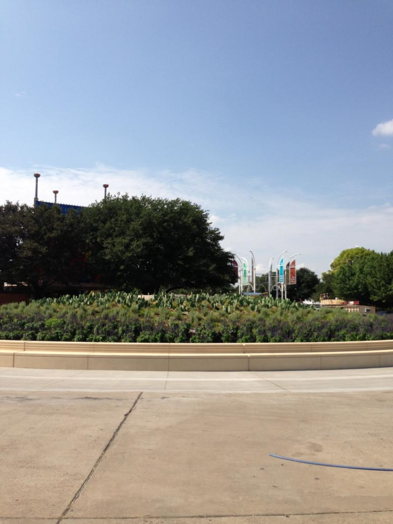 Big Tex Circle has received numerous improvements. Big Tex will go in the middle of this mound.