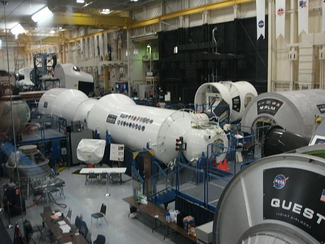 Astronaut training center, Johnson Space Center in Houston. This mock-up of the international space station helps astronauts get familiar with the layout before they arrive.