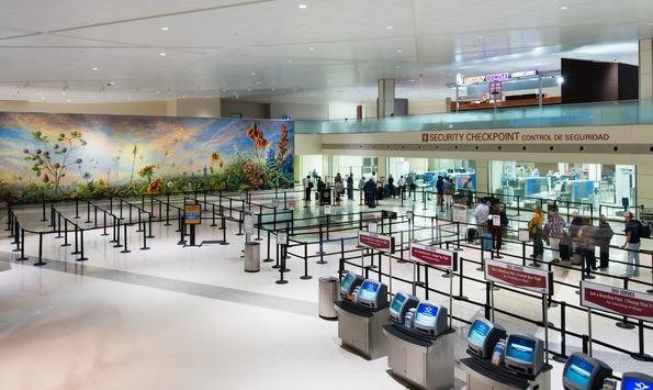 Dallas Love Field has undergone extensive renovations, including a new ticketing hall with large windows, an expanded security checkpoint, new concessions and public art throughout the airport.