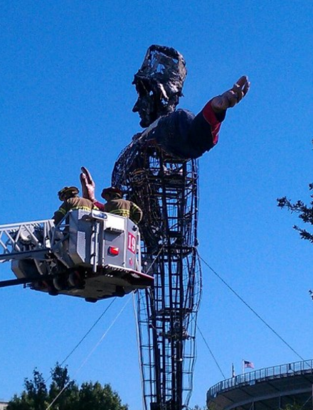 Big Tex burned quickly in front of scores of shocked fairgoers at the State Fair of Texas.
