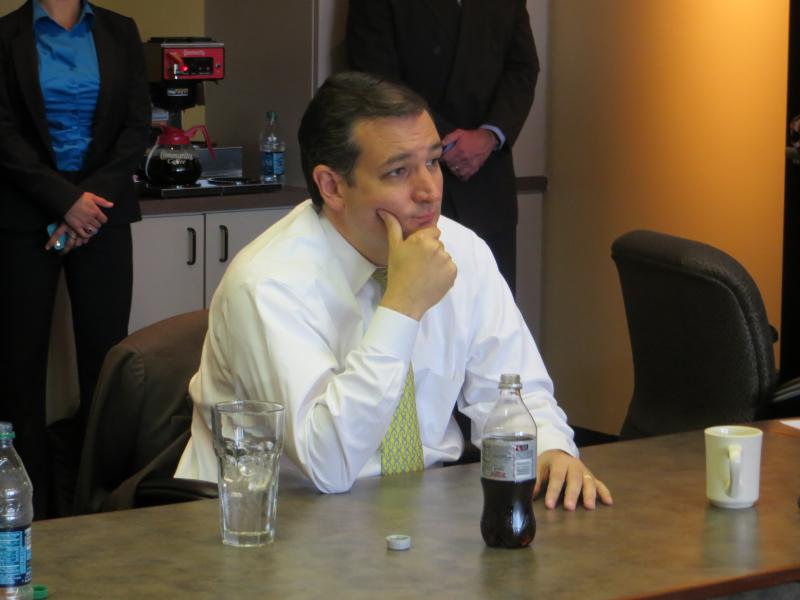 Sen. Ted Cruz listened to small business owners during a meeting in Fort Worth.