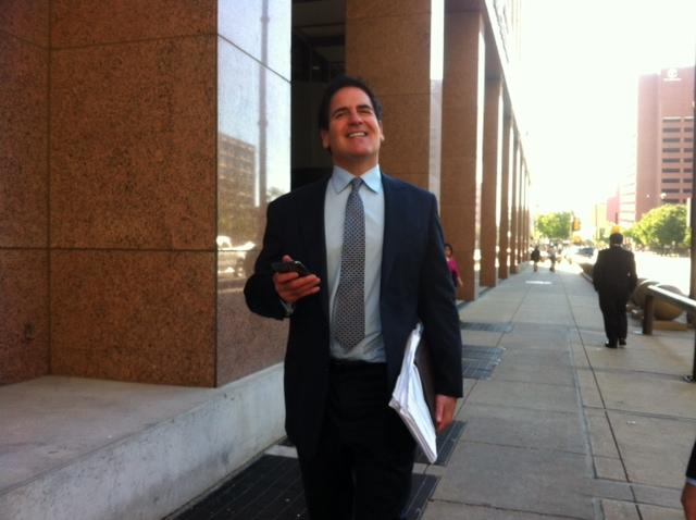 Mark Cuban remained spirited thoughout the trial, joking in and out of the courtroom.