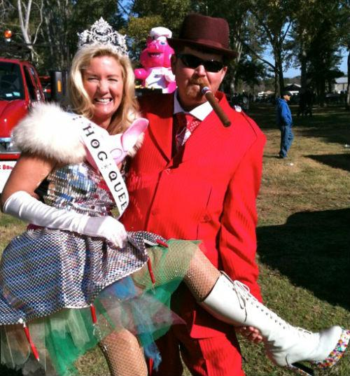 Meet hog royalty -- the 2012 hog queen, Mary Ramler, and grand marshal Steve Stamps.