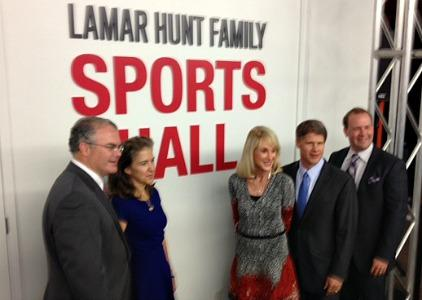 The Hunt family was on hand for Monday's announcement. From left: Lamar Hunt, Jr.; Sharron Hunt; Lamar Hunt's widow, Norma; Dan Hunt; Clark Hunt.