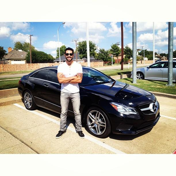 'Dallas' star tweeted this picture of him standing in front of his new Mercedes Benz, which he got from a Plano dealership.