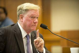 State Rep. Jim Pitts, a Waxahachie Republican, testified on Tuesday before a Texas House panel regarding UT Regent Wallace Hall.