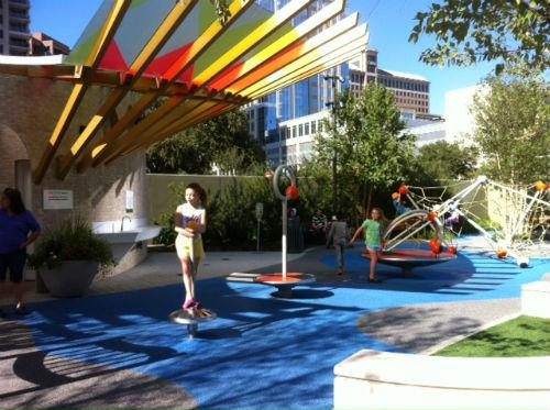 Klyde Warren Park marks its first anniversary this weekend.