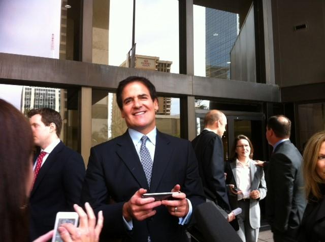 Mark Cuban was all smiles Wednesday afternoon after a federal jury cleared him of insider trading.
