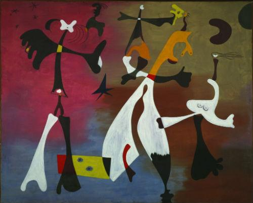 Joan Miro's Personages with Star (1933) is included in the Picasso and Matisse exhibit at the Kimbell Art Museum.