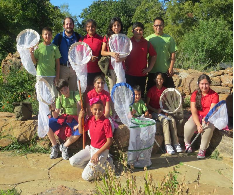 Rosemont Elementary Nature Club members tagged monarchs in a West Dallas preserve.