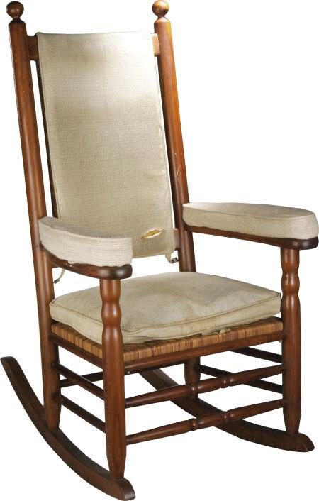 A rocking chair used by President John F. Kennedy in the White House will be auctioned in Dallas next month.