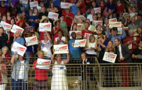 Supporters cheered on Wendy Davis as she announced she's running for governor.