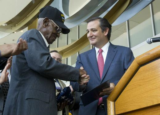 Richard Overton, who's 107 years old, was honored earlier by Texas Senator Ted Cruz. On Veterans Day, Overton was honored by President Obama.