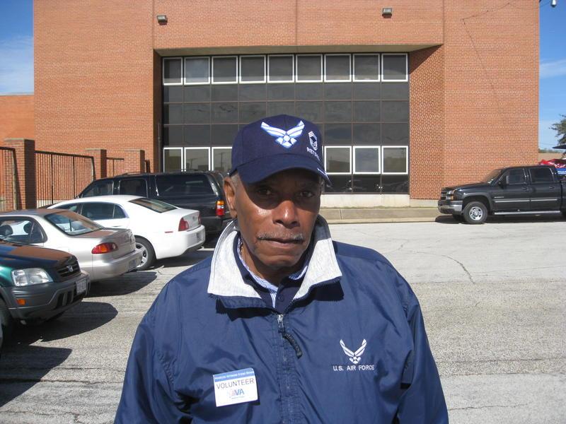 Rich Lindsey, veteran and volunteer at Friday's stand down at Dallas' Veterans Resource Center near the VA Medical Center.
