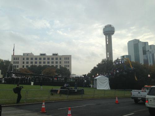 Dealey Plaza will be closed during Friday's ceremony -- only those who received tickets will be able to access the plaza.