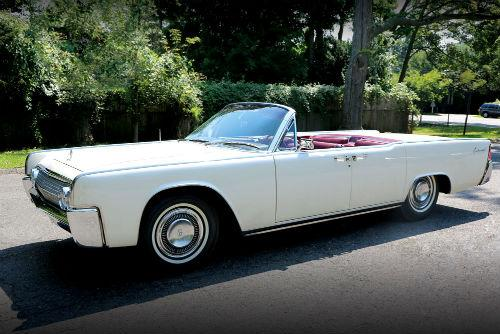 The white 1963 Lincoln Continental used to transport Kennedy to Carswell Air Force Base in Fort Worth sold for $318,000.