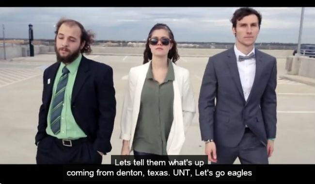 The University of North Texas has produced a rap video that's been watched more than 30,000 times on YouTube.