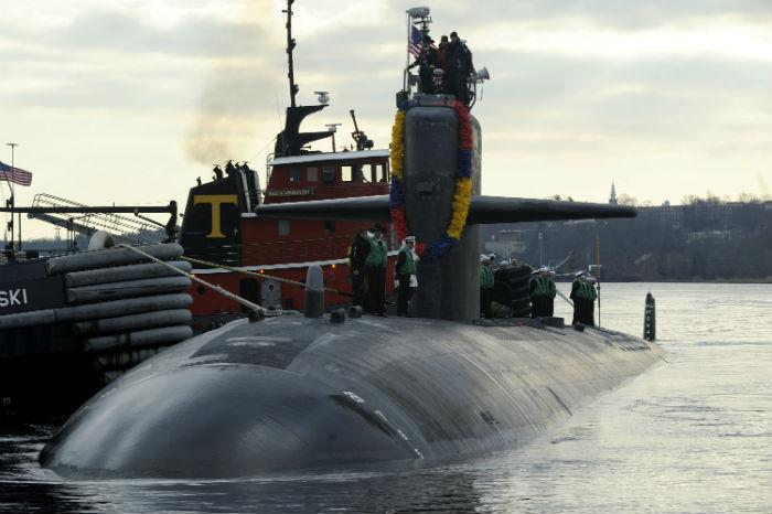 The attack submarine USS Dallas has returned to its home port in Connecticut after completing its last scheduled deployment.