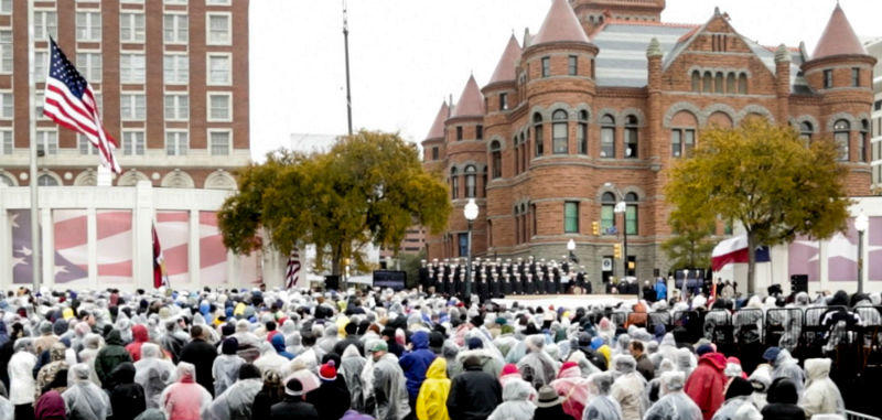 A remembrance of the 50th anniversary of John F. Kennedy's assassination in Dealey Plaza last year.