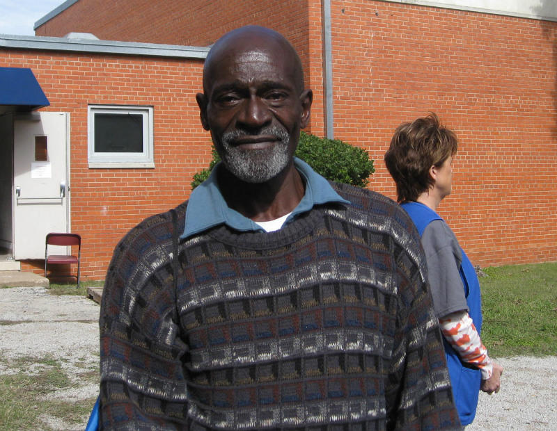Jerry Ivy, a homeless vet who's been dealing with a cocaine habit for decades.