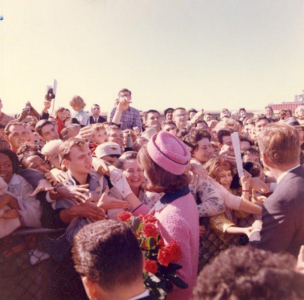 The Silwoods were among the crowd who came early to see Air Force One arrive at Love Field on Nov. 22, 1963.