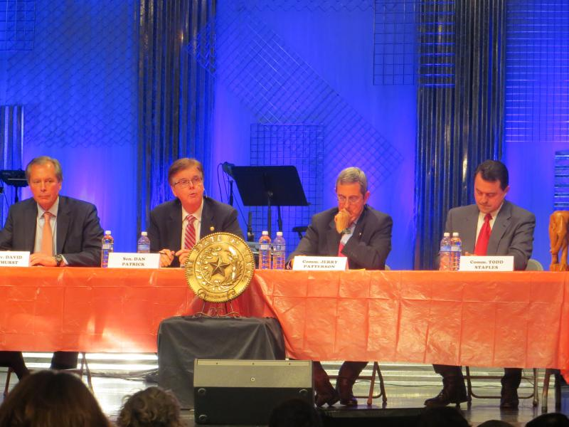 GOP lieutenant governor candidates Dewhurst, Patrick, Patterson and Staples at Dallas debate hosted by Young Republicans.