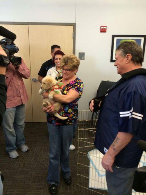 So many people were interested in adopting Stormy that a drawing was held.