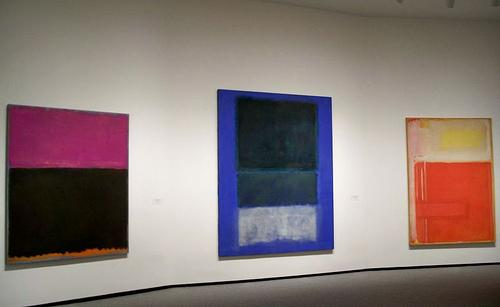 A few Mark Rothko paintings on display at the National Gallery of Art. These paintings are not involved in the Dallas lawsuit.