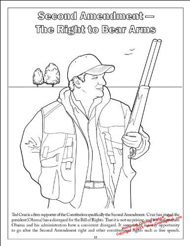 One of the pages shows Ted Cruz hunting.