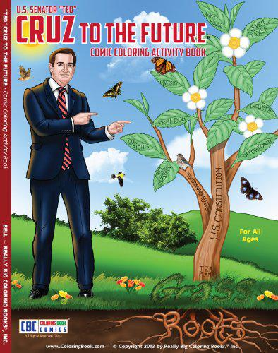 Ted Cruz stars in a popular coloring book.