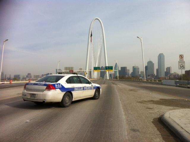 Dallas police shut down the Margaret Hunt Hill Bridge for several hours Wednesday due to falling ice.