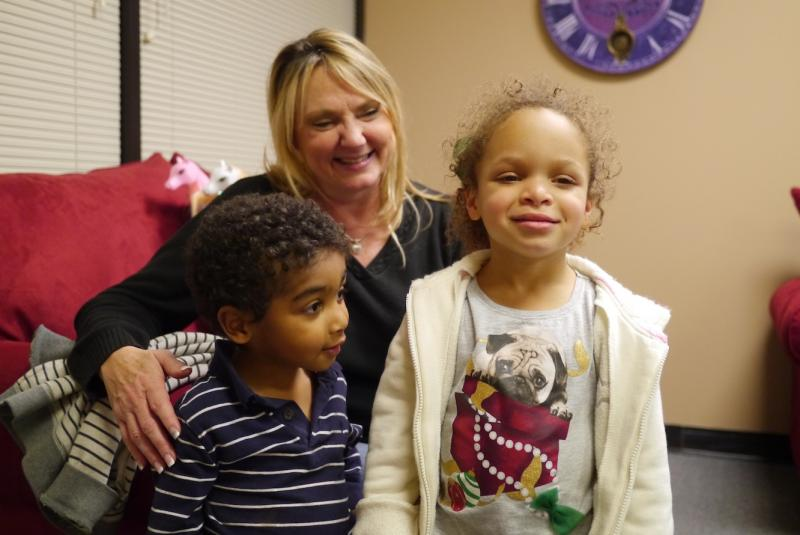 Dawna spent Christmas with her adopted kids, Reese and Xavier, and two foster teens.