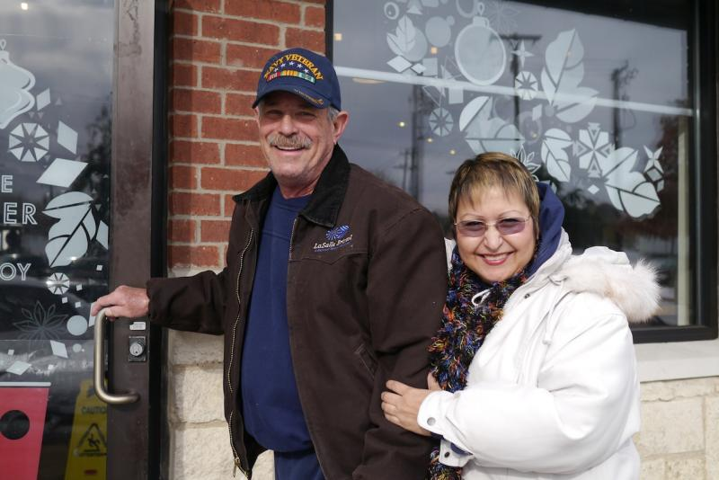 Nora and Edward Frederick of Arlington lost their power, but they weren't going to give up their coffee.