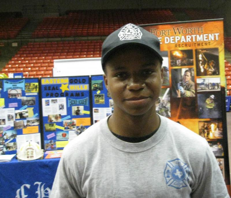 15 year-old Isaiah Thompson is happy to be part of Eastern Hill's fire science program. The sophomore wants to be a firefighter.