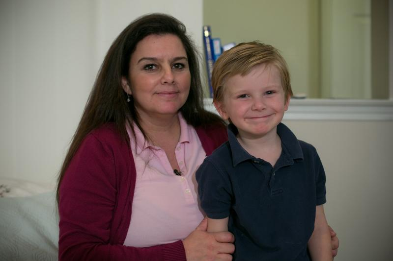 Natalie Berquist, 42, and her 4 year-old son Sam share a one-bedroom apartment in Lewisville.