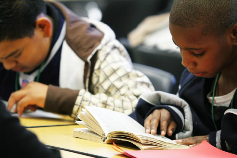 DISD 8th graders hit the books. They did better than Dallas kids two years ago, but not better than the national average