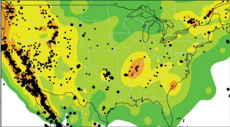 This map shows earthquakes from 2009 through 2012 with magnitudes greater than 3.0.