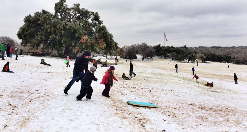 A picture-postcard scene from Flag Pole Hill in Dallas.